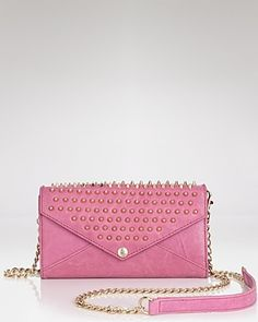 Rebecca Minkoff Studded Wallet on Chain | Bloomingdale's
