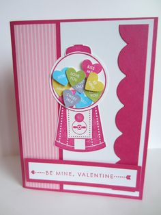 gumball candy heart valentine.