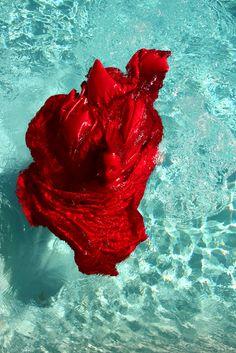 aqua and red!