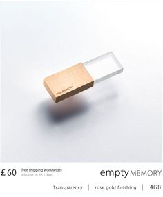Empty Memory is a jewelry-like memory stick, designed by Logical Art.