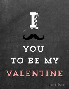 I Mustache You To Be My Valentine Printable Art