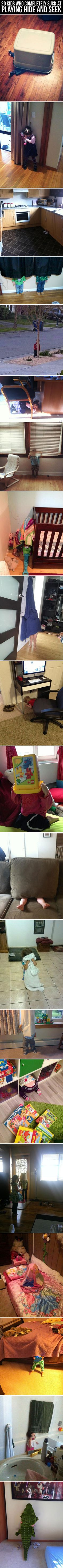 Top 20 Kids Who Suck At Hide And Seek. Personally, I think they're great.