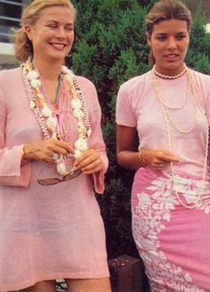 mother, princess grace, vintage pink, pearl necklaces, daughter, grace kelli, grace carolin, grace kelly, beads