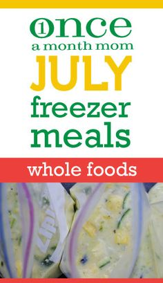 Freezer cooking menu for a whole foods (real food) lifestyle - grocery lists, recipes, instructions and more.