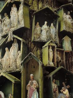 A Roadside Shrine with Catholic Saints on a Druidic Sacred Oak Tree