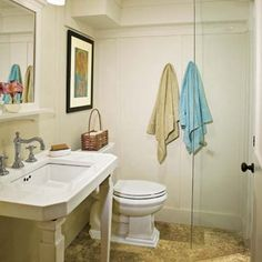 shower door give this basement bath a timeless look photo deborah