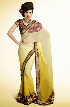 Harmonious Yellow Saree
