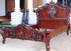 Rococo Bed- but in black, King