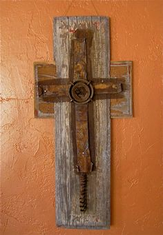 Rustic art cross