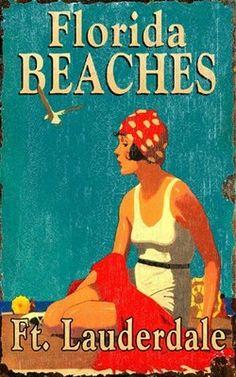 Vintage Florida Beaches Sign