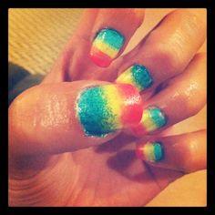 Sponge nails :)