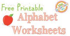 Alphabet Worksheets Free Kids Printable - Kids Activities Blog