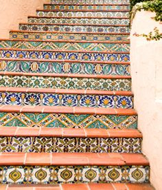 This is one way to enjoy the many gorgeous Mexican tile patterns!