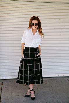 ladylik skirt, plaid skirt