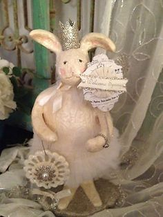BISETTI+HARE+BY+HEATHER+MYERS+COLLECTABLE+SPRING+SPARKLING+CROWN+BUNNY+RABBIT