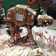 Gingerbread AT-AT - complete with gingerbread Luke