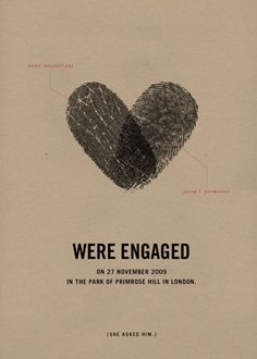Fingerprint wedding announcement