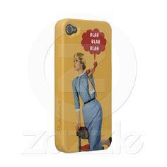 "IPhone 4 cover ""blah blah blah"" by Blunt Card $34.95"