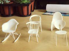 chair miniatur eam rocker miniature furniture miniatur furnitur rocker
