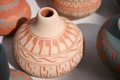 Native American pottery in Santa Fe.  Loved it there.