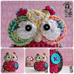 Ravelry: Owl pendant pattern by Vendula Maderska