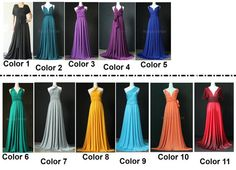 Bridesmaid Convertible Dress Wrap Infinity Dress by myuniverse, $99.00