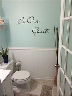 Half bathroom remodel idea.