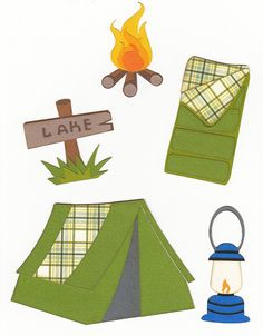 Free SVG – Camping Set ... this site has darling free cutting files!!!  SCRAP YOUR STORY