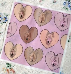 Vulva Vagina NSFW Heart Original Print Patch by Grace Insogna