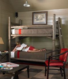 love this campy room.