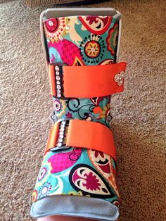 Decorating the walking boot. If I have to wear it then it needs to be cute.
