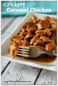 crockpot caramel chicken recipe #chickendinner #chicken #slowcooker #crockpotrecipe #recipe #easydinner