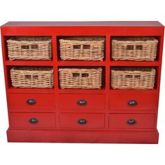 I pinned this Nantucket Cabinet in Red from the Jeffan event at Joss and Main!