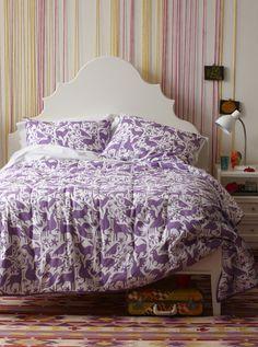 Yarn Wall and cute bedspread :)