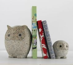 Owl Family bookends.