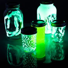Glow in the dark jar experiment