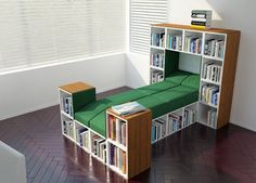Book Bed!  MODULAR FURNITURE Made from Recycled Materials Becomes Just about Anything. Amazing Furniture Collection! ... ... TETRAN™ modular furniture.