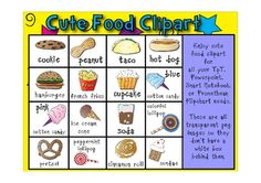 This zip file contains adorable food clipart for all of your TpT, Powerpoint, Smart Notebook, or Promethean Flipchart needs.  These are png transpa...