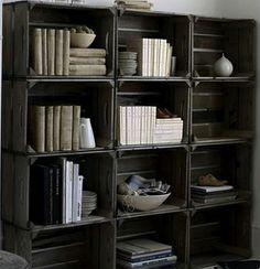 Librero con huacal