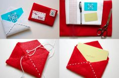 Felt Envelope Letter / 24 Cute And Clever Ways To Give A Gift Card