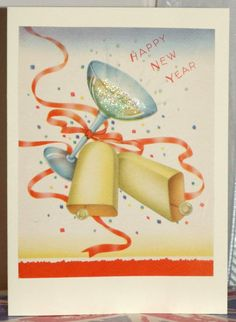 Happy New Year, made from a vintage card.