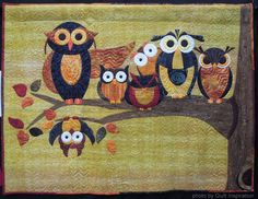 """The Usual Suspects, 48 x 36"""", by Swan Sheridan at Swan Amity Studios.  Pattern available. Photo by Quilt Inspiration"""