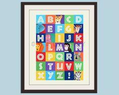 ABC & Alphabet art prints: Safari Alphabet Printby Small Fry
