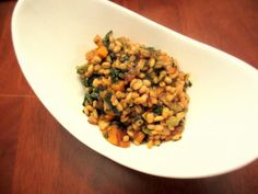 Vegan Sweet Potato Barley Risotto