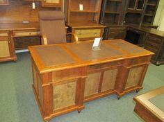 Bridgeport Executive Desk - eclectic - desks - columbus - Geitgey's Amish Country Furnishings