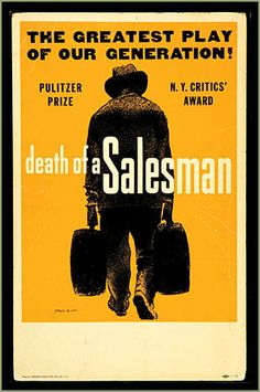Theater poster for Arthur Miller's Death of a Salesman, winner of Tony for Best Play in 1949