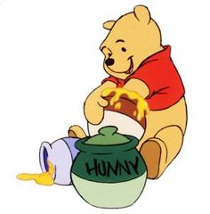 Winnie the Pooh and his Honey pots!