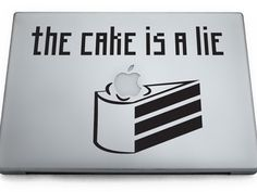 """""""the cake is a lie"""" laptop (or other) decal. $9."""