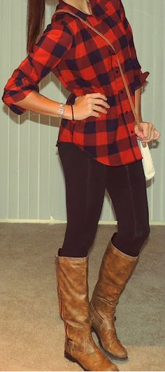 Got my flannel at target, boots at Tilly's and I'm not sure where the leggings were from. Easy, comfy & cute
