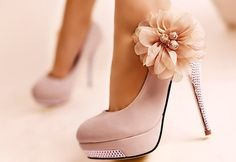 Light Pink with Flower and Diamond Studs